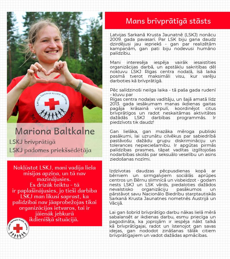 Mans brīvprātīgā stāsts - Mariona Baltkalne