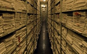 Inside ITS in Bad Arolsen, Germany. (Richard Ehrlich/USHMM)